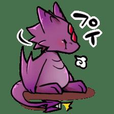 Cute little dragons sticker sticker #4153473