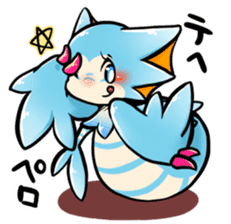 Cute little dragons sticker sticker #4153480