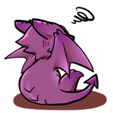 Cute little dragons sticker sticker #4153482