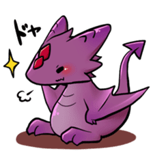 Cute little dragons sticker sticker #4153485
