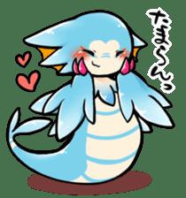 Cute little dragons sticker sticker #4153494