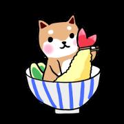 สติ๊กเกอร์ไลน์ MameShiba-dog and Japanese DONBURI