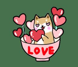 MameShiba-dog and Japanese DONBURI sticker #4154274