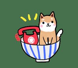 MameShiba-dog and Japanese DONBURI sticker #4154275