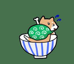 MameShiba-dog and Japanese DONBURI sticker #4154278