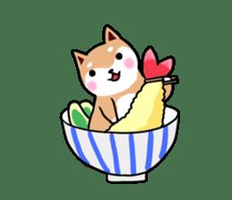 MameShiba-dog and Japanese DONBURI sticker #4154280