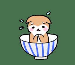 MameShiba-dog and Japanese DONBURI sticker #4154295