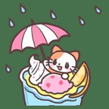 Fruit parfait cats sticker #4156102