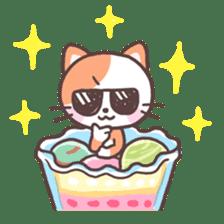 Fruit parfait cats sticker #4156110