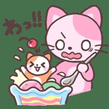 Fruit parfait cats sticker #4156111