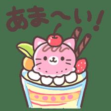 Fruit parfait cats sticker #4156124