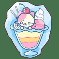 Fruit parfait cats sticker #4156126