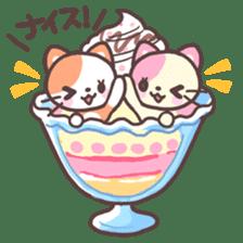 Fruit parfait cats sticker #4156129