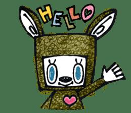 Funny Bunny Shaggy sticker #4164240