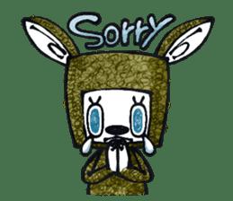 Funny Bunny Shaggy sticker #4164243