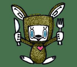 Funny Bunny Shaggy sticker #4164249