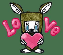 Funny Bunny Shaggy sticker #4164252