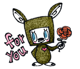 Funny Bunny Shaggy sticker #4164255