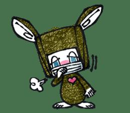 Funny Bunny Shaggy sticker #4164258