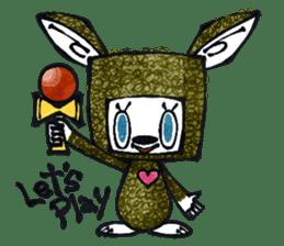 Funny Bunny Shaggy sticker #4164267