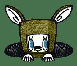 Funny Bunny Shaggy sticker #4164269