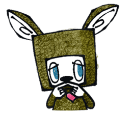 Funny Bunny Shaggy sticker #4164271
