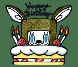 Funny Bunny Shaggy sticker #4164276