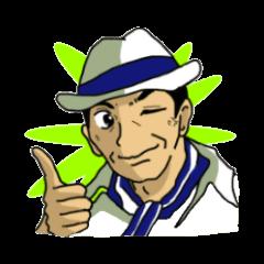 Sticker of voice actor Jouji Nakata