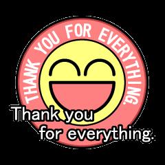 Badge-style Sticker (English)