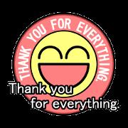 สติ๊กเกอร์ไลน์ Badge-style Sticker (English)