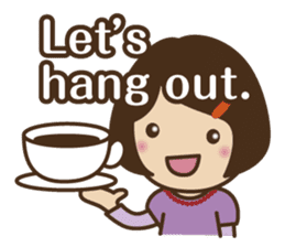 Let's talk with mom and mom! sticker #4169080