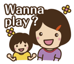 Let's talk with mom and mom! sticker #4169081