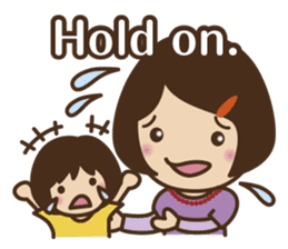 Let's talk with mom and mom! sticker #4169082