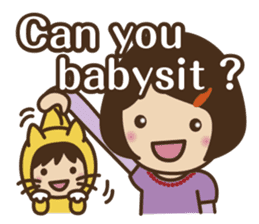Let's talk with mom and mom! sticker #4169108