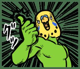 Troublesome budgerigar sticker #4181392