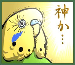 Troublesome budgerigar sticker #4181417