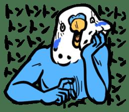 Troublesome budgerigar sticker #4181418
