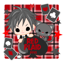 RED PLAID boys -English-