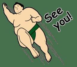 A cute Sumo wrestler 2 (English) sticker #4197579