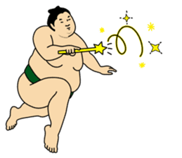A cute Sumo wrestler 2 (English) sticker #4197580