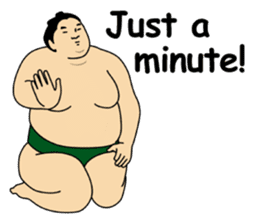 A cute Sumo wrestler 2 (English) sticker #4197586