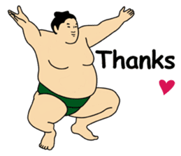 A cute Sumo wrestler 2 (English) sticker #4197598
