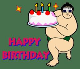 A cute Sumo wrestler 2 (English) sticker #4197605