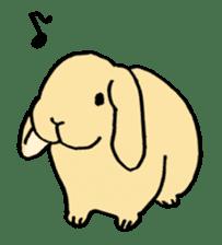 English Bunny sticker #4202697