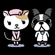 สติ๊กเกอร์ไลน์ Dr.Dog&Pretty NYA-S Sticker