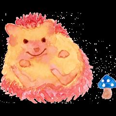 Watercolor Paint Hedgehog