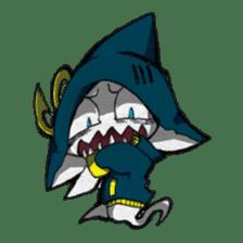 Ghost shark sticker #4238840