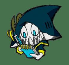 Ghost shark sticker #4238863