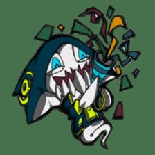 Ghost shark sticker #4238877