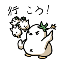 Eggplant penguin sticker #4243443